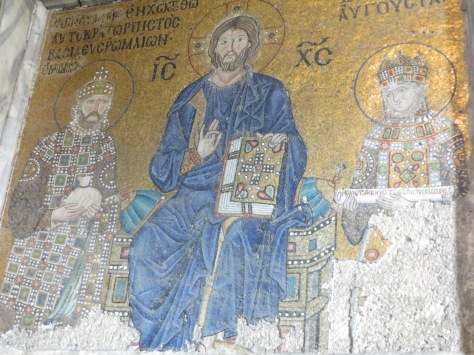 Fresco de Cristo en la Mezquita de Sofía