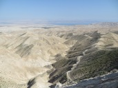 Mishpé Yerihó - desierto, Rio Jordan-Mar Muerto y Jordania al fondo