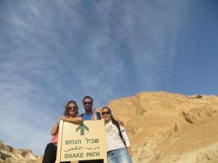 Masada - El equipo justo antes de comenzar la subida!