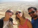 Masada - Paradita a mitad de camino.