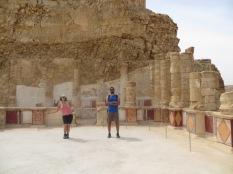 Masada - La princesa y el emperador en el mirador del Palacio!