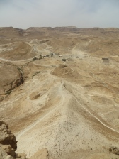 Masada - La rampa de asalto por la que accedieron los romanos.