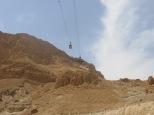 Masada - Teléferico para subir a Masada