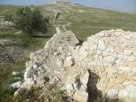 Tel Arad - Restos de la muralla de la ciudad