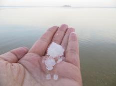 Mar Muerto - La sal que se deposita en el fondo del mar!