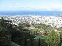 Vistas de Haifa desde lo más alto de los jardines de Bahai