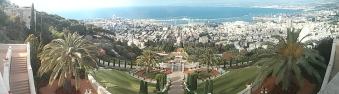 Panorámica del puerto de Haifa desde los jardines de Bahai! Espectacular!