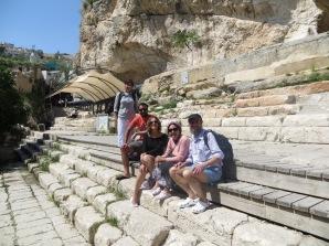 Con la family en la piscina de Siloé, donde según la Biblia se curaban los enfermos.