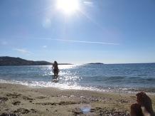 Bañandome en el mar Egeo