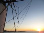 El sol a punto de desaparecer frente a Los Molinos
