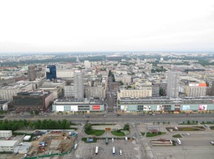 Views from the top of the PKiN (Palace of Culture and Science)