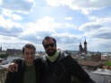"With the great Maciej in one of the best ""rooftops"" of Krakow :p"