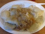 Delicious and veeery cheap Pierogis after a tough day