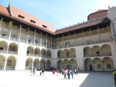 Wawel castle square. In one of those rooms is where kings were crowned