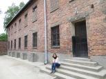Auschwitz en el patio de castigo y fusilamiento