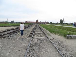 Las vias llegaban hasta el corazón de Birkenau, de manera que se minimizaba el tiempo entre la llegada de presos y su proceso de registro o gasificación.