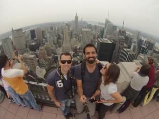 Otra selfie GoPro, ahora con Downtown de fondo.