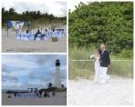Momento Bodil frente al faro de Cape Florida