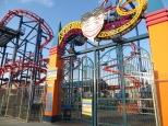 Payaso de bienvenida al parque de atracciones de Conney Island, lástima que estuviera cerrado!
