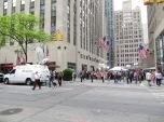 Vista del plató de TV en Rockefeller Plaza.