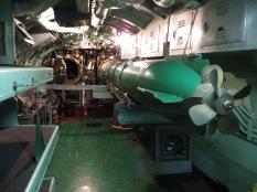 Torpedo en la sala de municiones.