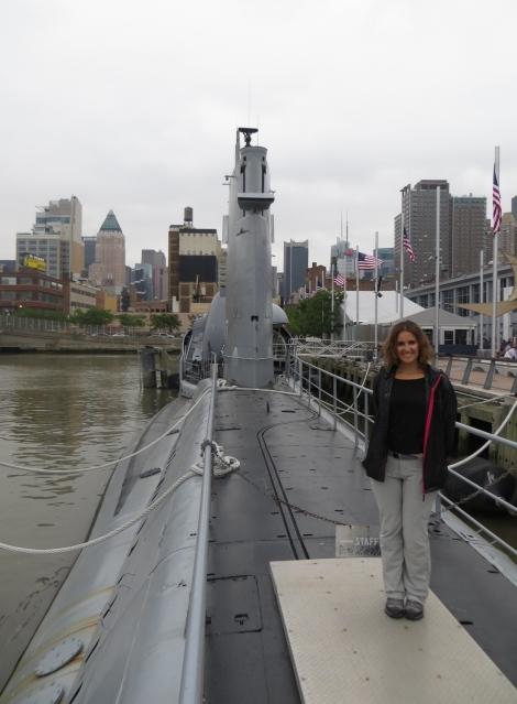 Mónica os despide desde el submarino!
