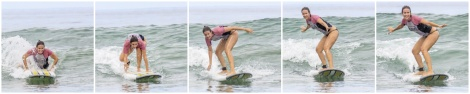 "Mónica ""surfera"""