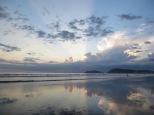 Atardeceres espectaculares en la playa de Jacó