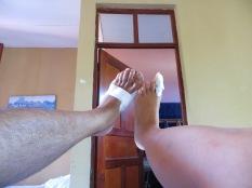 Nuestros pies dijeron bye bye al surf... hasta pronto!! Repetiremos!!