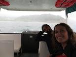 Maravilloso paseo en bote bajo la lluvia en la Laguna de Arenal!