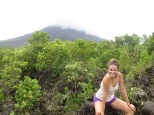 Mónica y el volcán