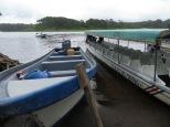 Recién llegados al embarcadero de Tortuguero.