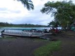 Amaneciendo en el embarcadero de Tortuguero