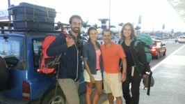 En el aeropuerto con Alex y Lupe. Hasta pronto amigos!!