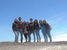 En lo más alto con Laura, Raul y sus amigas.