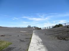 Es un camino larguísimo hasta llegar al volcán