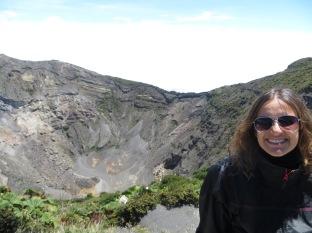 Frente al volcán