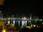 Desde la terraza del hostel vista de la zona moderna de Panamá City, también conocida como la Pequeña Miami o la Miami del Sur