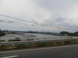 Vista del Canal de Panamá desde el Puente de las Américas