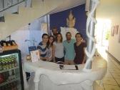 De izquierda a derecha: Pacho, Julie, Juny, Mónica, Martín -the boss- y Duvan. Solo faltaba Esther que estaba enferma y no nos pudimos despedir de ella... Un beso gigante para todos!