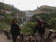Vista del Santuario desde la cascada. Es precioso.