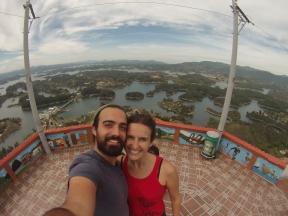 Y antes de bajarnos, un último selfie desde la cima :p