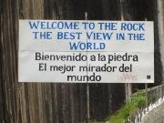 Bienvenido a la piedra. El mejor mirador del mundo.