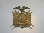 Escudo de Ecuador exhibido en el Palacio Presidencial