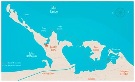 Isla barú - ubicación