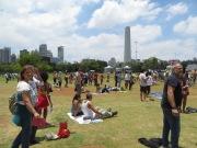 En el Parque Iburapuera con el monumento más grande de Sao Paulo a sus espaldas: el Obelisco.