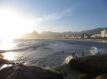 Así de espectaculares se muestran las playas de Ipanema y Leblon (al fondo) desde el Parque Garota