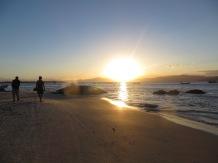 Atardecer en Praia do Forte, en Santa Catarina. fue absolutamente precioso!