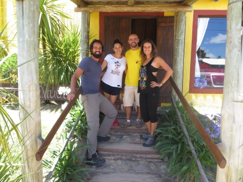 Juny, Guada, Seba y yo