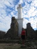 El faro está construido sobre las ruinas del Convento de San Francisco Javier.